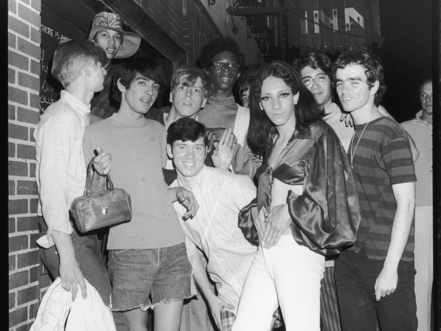 Rioters at the Stonewall Inn, 1969.